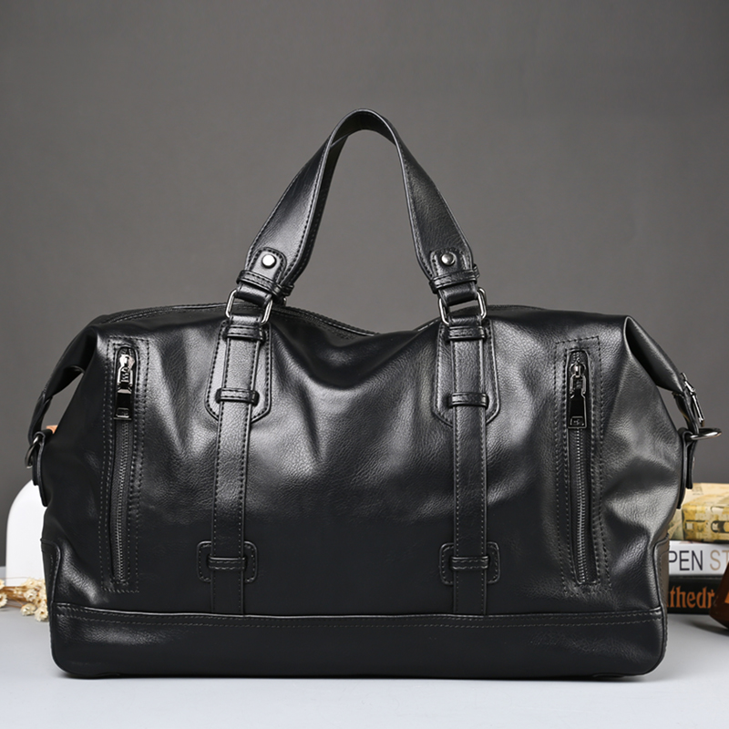 Popular Fashion Men's Travel Bags Brand Luggage Waterproof duffel bag Casual Leather Handbag Large Capacity 15 Laptop Bags