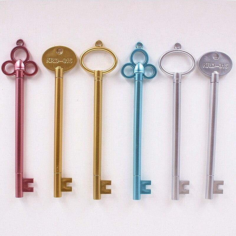 05mm-do-vintage-chave-de-plastico-caneta-gel-criativo-bonito-material-escolar-canetas-kawaii-para-criancas-novely-item-frete-gratis