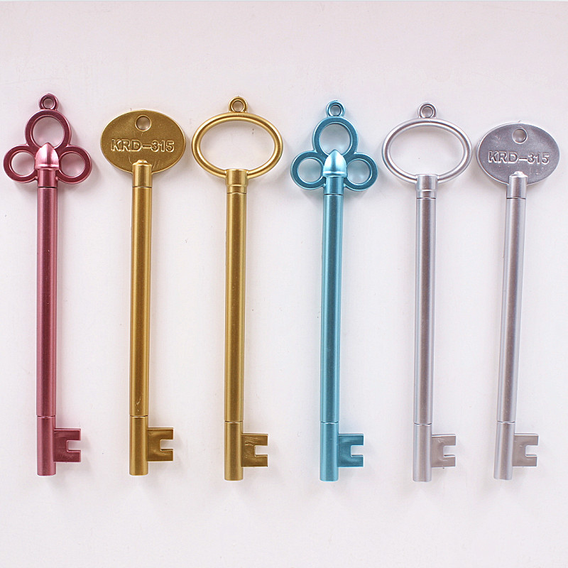 цена на 0.5mm Vintage Key Plastic Gel Pen Creative Cute Kawaii Pens For Kids Novely Item School Supplies Free Shipping