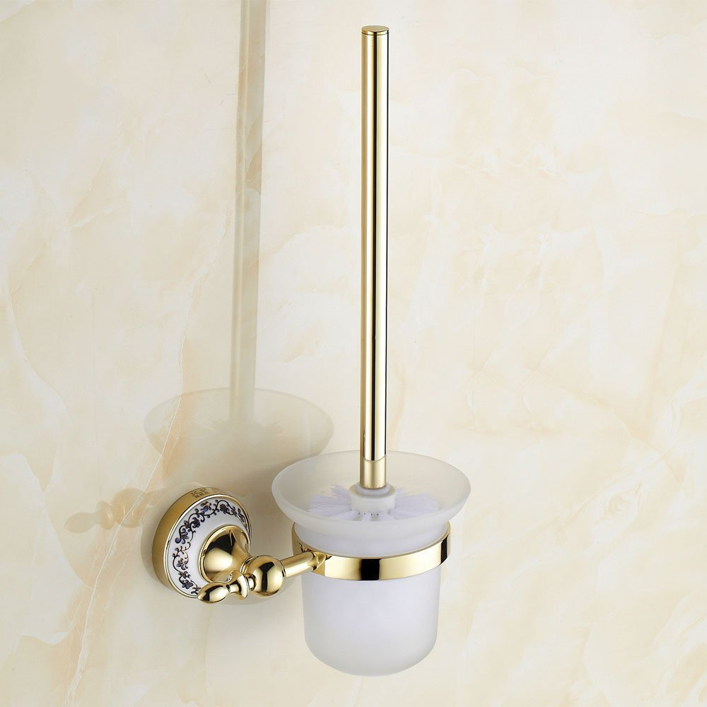 Toilet Cup Holder Suit Bathroom Accessories Hardware Golden Space Frame Brush 2015 Rushed Toilet Paper Papel Higienico antique copper toilet brush holder ceramic solid brass bathroom toilet brush cup holder rack bathroom brush shelf