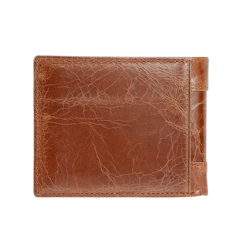 Genuine Leather Wallets for Men Card Slots Pockets Short Money Purses High Quality Oil Wax Leather Vintage Male Walets Carteira
