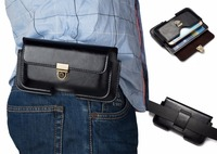 Universal Hold 2 Mobile Phone Belt Clip Holster Leather Case Pouch Cover For DOOGEE S60 For
