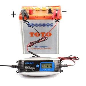 Image 4 - FOXSUR 6 V 12 V 7 stage Moto Caricabatteria Per Auto, inverno modalità e impermeabile AGM GEL Battery Charger con Connettore SAE