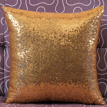 Created 40*40cm Square Reversible Mermaid Sequins Satin Pillow Cover Throw  Pillow Case Magical Double Color Covers QW874249