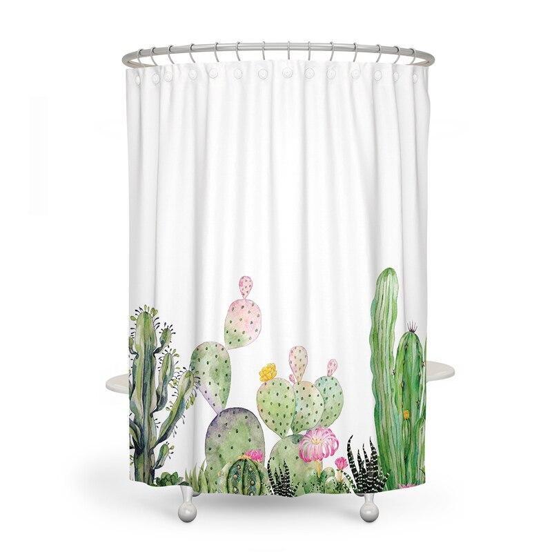 Cactus Print Shower Curtains