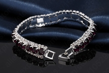JEXXI Vintage Female Rhinestone Bangles& Bracelet 925 Sterling Silver Cubic Zircon Wedding Engagement Jewelry