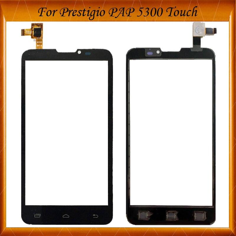 Tactile Panneau Écran Tactile Capteur Pour Prestigio MultiPhone PAP 5300 Duo PAP5300 Écran Tactile Digitizer Façade En Verre EN Stock