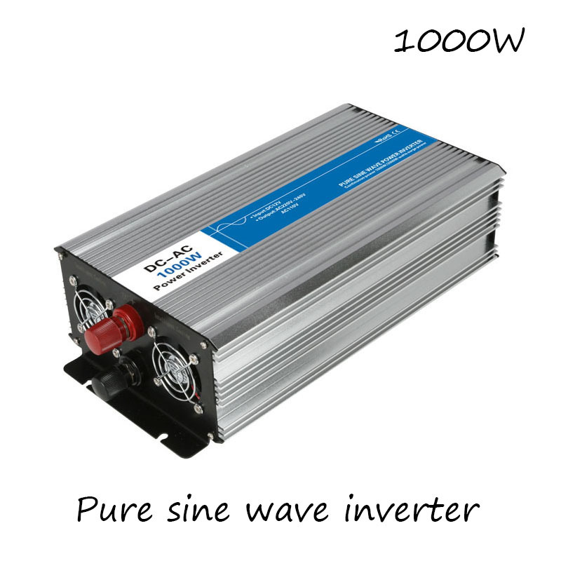 DC-AC 1000W Pure Sine Wave Inverter 12V To 220V Converters Voltage Off Grid Electric Power Supply LED Digital Display USB China fast shipping dc to ac 12v to 220v pure sine wave inverter 5000w peak 10000w inverter pure sine wave power converters