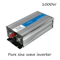 DC AC 1000W Pure Sine Wave Inverter 12V To 220V Converters Voltage Off Grid Electric Power Supply LED Digital Display USB China