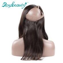 Роза красоты 360 Кружева Фронтальная застежка прямые волосы Реми натуральных волос с ребенком человеческие волосы 100% бесплатная доставка(China (Mainland))