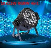 Aluminum Alloy LED Par 18x12W RGBW 4in1 LED Par Can Par64 Led Spotlight Dj Projector Wash