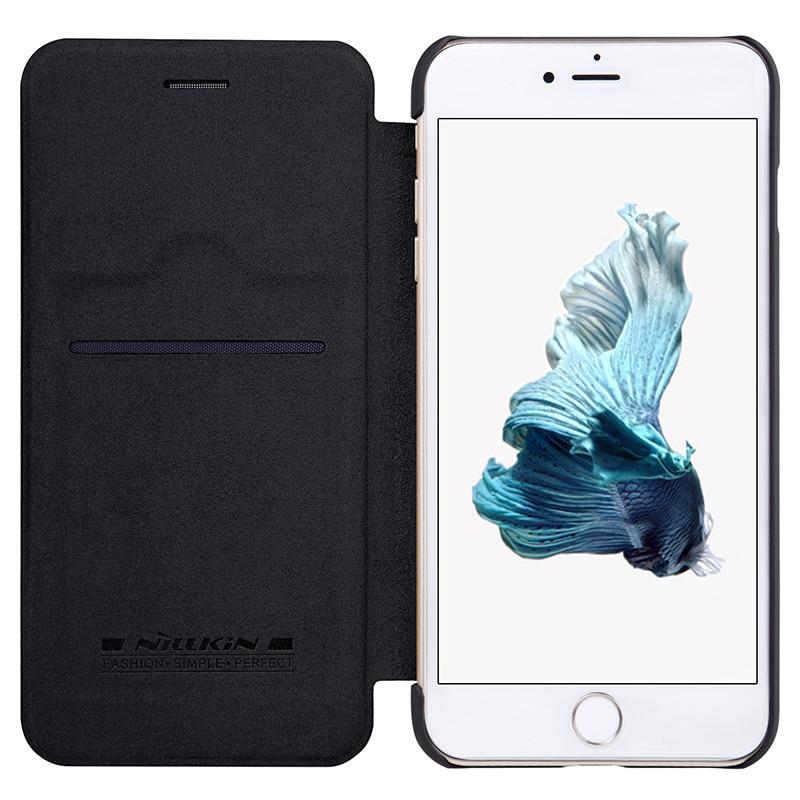 NILLKIN För Apple iPhone 7 Plus Väska Högkvalitativt läderfodral - Reservdelar och tillbehör för mobiltelefoner - Foto 4