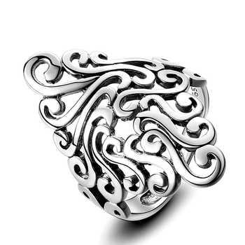 Bagues pour femmes 925 argent Sterling bijoux fins Vintage creux Boho bohême nuage pour mariage fiançailles fête cadeaux