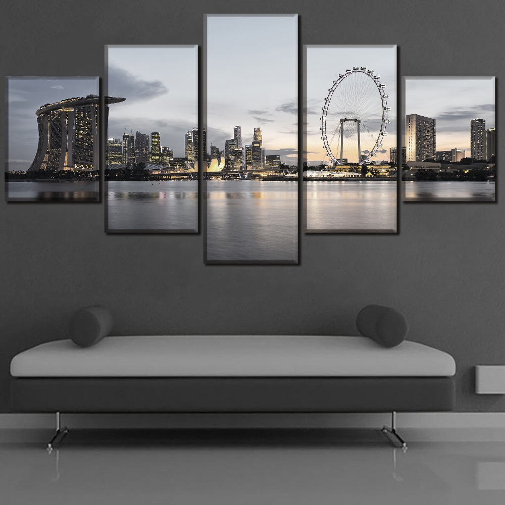 Urban HD Print Wall Art Canvas Painting Modern Home For Living Room Decor Picture