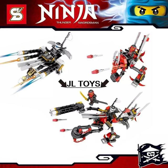 Hot SY239 2em1 Mech Kai Zane ninja building block bricks assemblage Ninjagoes mini blocos compatível com lego brinquedos educativos