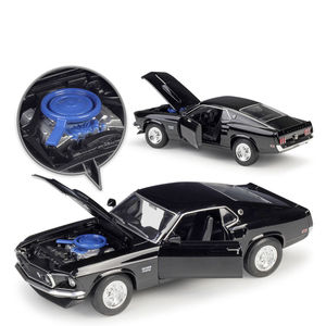 Image 3 - Welly 1:24 다이 캐스트 시뮬레이션 합금 모델 자동차 1969 포드 머스탱 보스 429 자동차 장난감 금속 장난감 자동차 어린이 장난감 선물 컬렉션