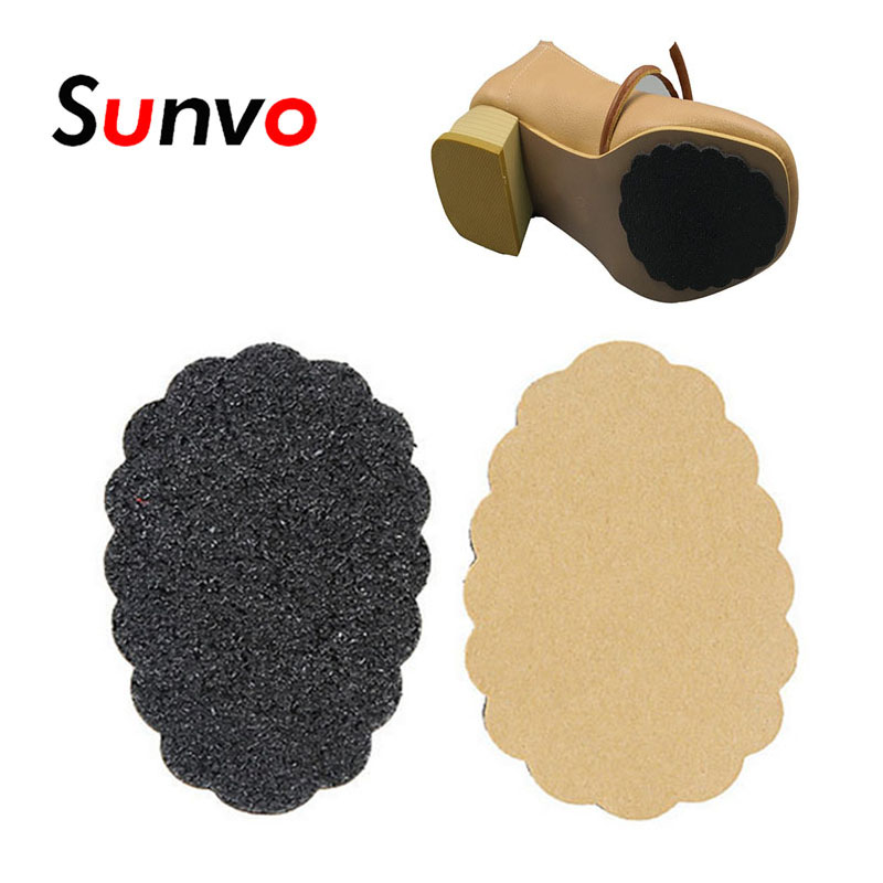 2 Pcs Anti-Slip Shoe Sole Sticker For High Heel Sandal Boot Self-Adhesive Forefoot Mat Front Pads Shoe Protector Grip Insert