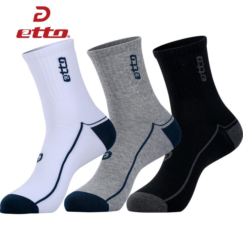 Etto Brand Sports Socks Men Quality Training Football Cycling Sock Cotton Sox 2017 Comfortable Elastic Athletic Socks HEQ118