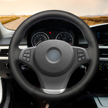 High quality Black Artificial Leather anti-slip customized car steering wheel cover For BMW E83 X3 2003-2010 цена и фото