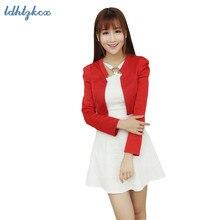 Блейзер, пальто, женский корейский короткий маленький Блейзер, куртка, весна-осень, офисный черный розовый пиджак, кардиган, Тонкий Блейзер, пальто LD03