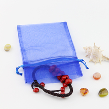 15 * 23cm Organza Solid Color Gift Bag Wedding Gift Bag Drawstring Bag Jewelry Bag Multicolor 50pcs