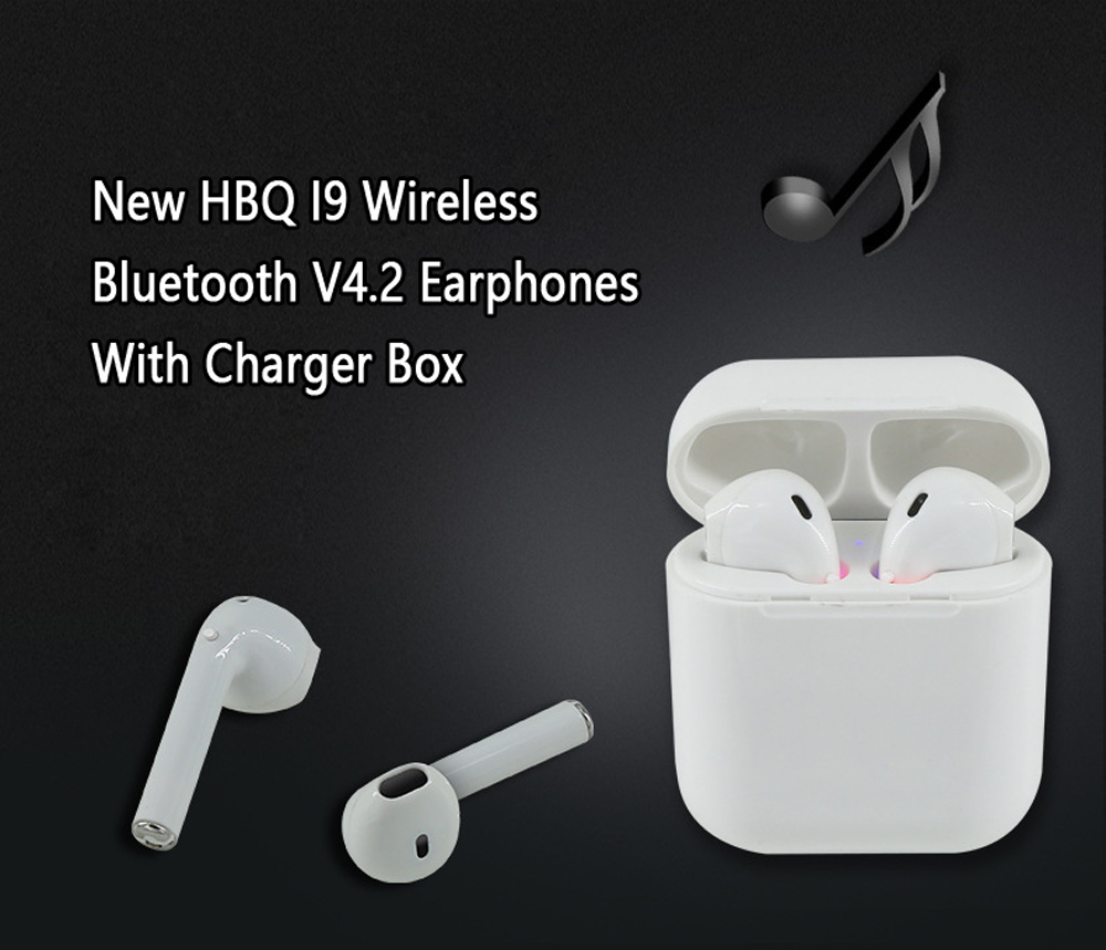 Magnetic Charger Box Earbuds I9 TWS Bluetooth Earphones Mini Wireless In Ear Headsets V4.2 Stereo Headphones For IPhone Android (1)