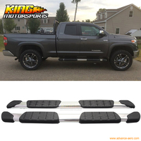 For 07 15 Toyota Tundra Double Cab Aluminum OE Side Step Bar Rail Running Board