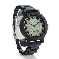 BOBO BIRD جديد مصمم الساعات الرجال خمر ساعة خشبية الفرقة ساعة اليد مع هدية صندوق ورقي relogio masculino