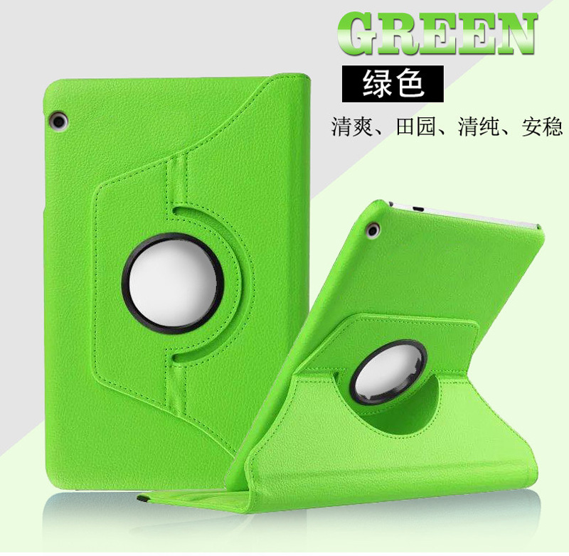 Rotation 360 Degree Rotating Litchi Stand Leather Funda Cover Case For Huawei Mediapad T5 10 AGS2-W09/L09/L03/W19 + Film + Pen