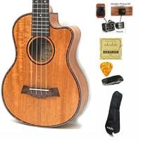 23 inch Ukulele Mahogany 4 String Ukelele Hawai Guitars Music Instrument Electric Guitar with Pickup EQ guitalele Gitar