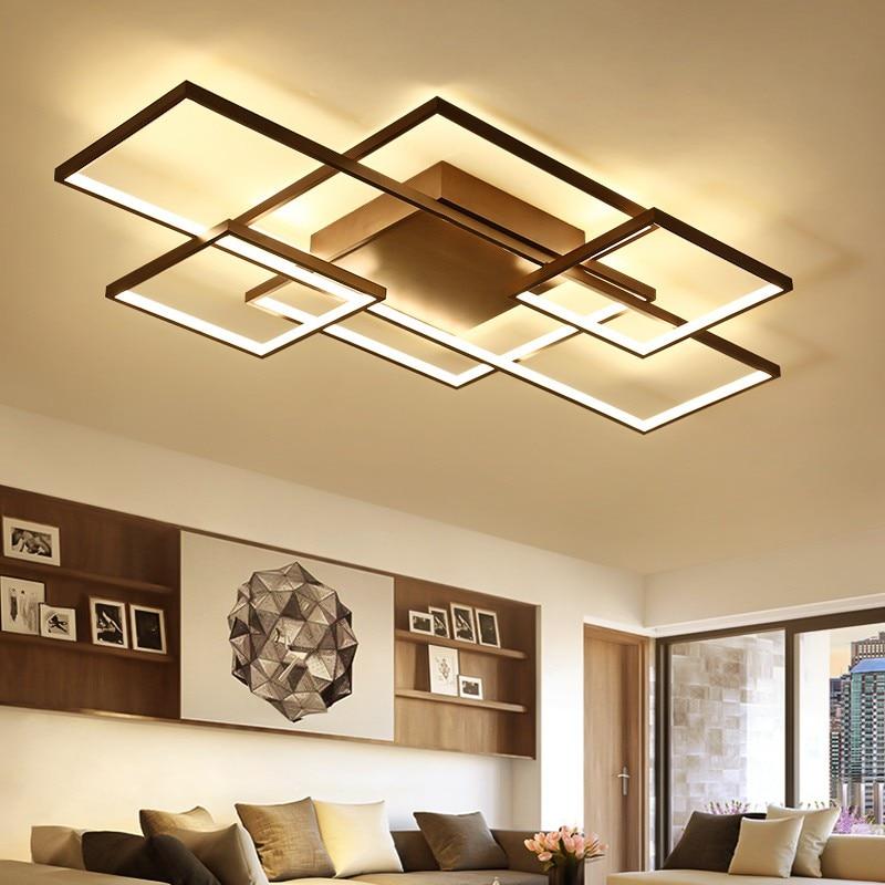Minimalism Livingroom Bedroom led ceiling Lights Rectangle/Square Modern led Ceiling Lamp Fixtures plafonnier luminaria цена 2017