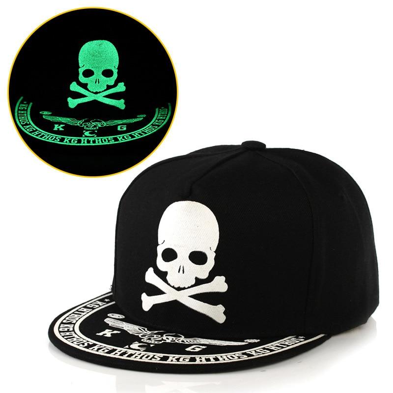 Men Women Fashion Fluorescence Light Baseball Cap Unisex Luminous Pattern Hip Hop Caps Boys Girls Polo Snapback Sport Hat CP0009 (1)