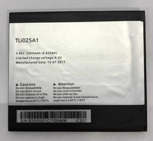 купить 3.85V 2500mAh TLi025A1 For Alcatel POP 4 OT-5051X OT-5051D 5051X 5051D Battery по цене 236.27 рублей