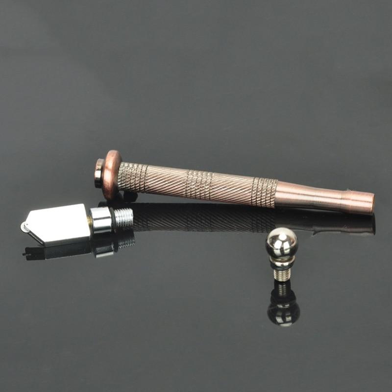 Diamond Antislip Metal Handle Cutting Tools Pistol Grip Oil Glass Cutter Tool  Professional Oil Feed Glass Cutter