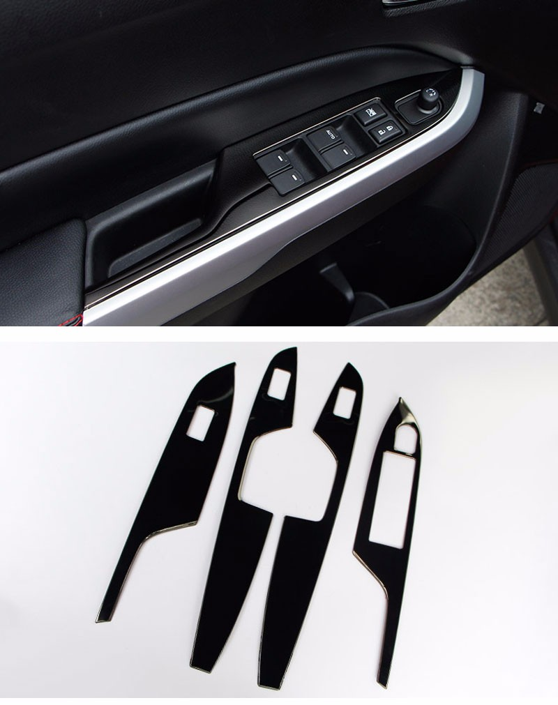 font b Car b font Styling Stainless Steel 4pcs set font b Interior b font