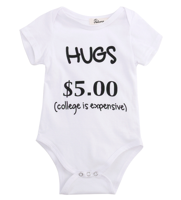 cc20fb74587 Cute College Is Expensive Newborn Baby Boys Girls Clothes Romper Jumpsuit  Sunsuit Outfits