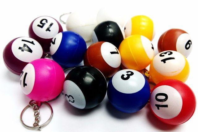 Online Shop PC Key Chain W Pool Table Ball Kids Vintage Charm - Pool table key