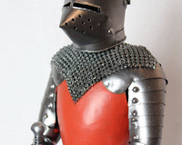 Antique medieval knight armor model / European process Samurai Decoration / Home Decorations