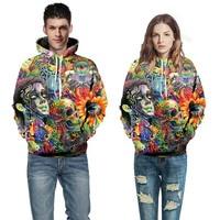 Paint Skull 3D Printed Hoodies Men Women Sweatshirts Hooded Pullover Brand 6xl Qaulity Tracksuits Boy Coats