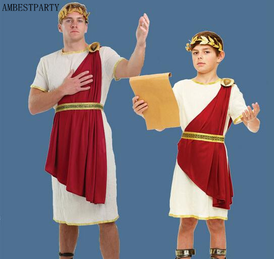 Старинные римские Костюмы для детей и взрослых, костюм римского воина, Хэллоуин, косплей, римские аксессуары, маскарадный костюм AMBESTPARTY