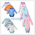 2 pçs/lote fantasia bodysuit bebê menino menina macacão bebe geral clothing set outono primavera manga comprida terno do corpo do bebê de algodão 3 m-24 m