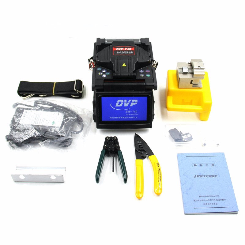 DVP-740 Digital Fiber Optical Arc Fusion Splicer for FTTx FTTH Patch Cord ,With Fiber Optic CleaverDVP-740 Digital Fiber Optical Arc Fusion Splicer for FTTx FTTH Patch Cord ,With Fiber Optic Cleaver