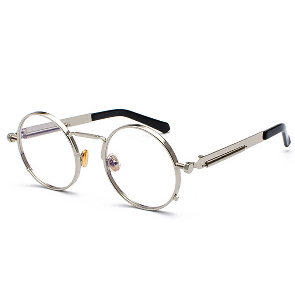 570cf784ec ... Peekaboo vintage steampunk glasses round men gold fashion retro round  circle metal frame eyeglasses frame for ...
