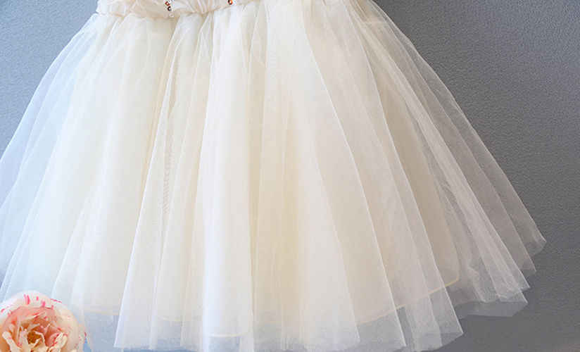 ... Dress 2017 Girl kids Bridesmaid Sequined Flower Prom Party Princess  Ball Gown Cute Formal Mini Dress ... bc84008c7a01