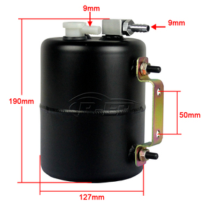 Image 2 - R EP Brake Booster Vacuum Pump Canister Reservoir Tank Aluminium Alloy Can Universal Fits for Chevy Mopar for Drift Track