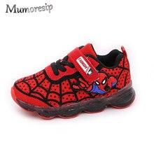 c4f5f3e1d Mumoresip Spiderman niños zapatos para niños pequeños niños grandes  deportes zapatillas de deporte con luz LED
