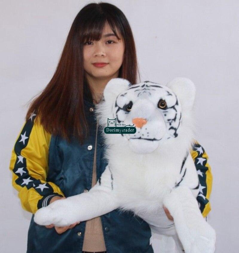 плюшевый белый тигр