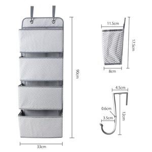 Image 2 - High Quality 4 Pockets Door Back Wall Bedside Cabinet Wardrobe Hanging Bag Storage Organizer for Sundries Underwear Toys
