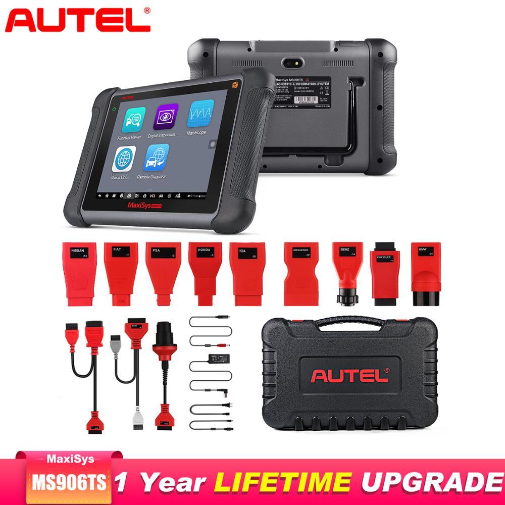 Autel MaxiSys MS906TS herramienta de diagnóstico de automóviles todos los sistemas TPMS herramienta de programación OBD2 escáner de coche