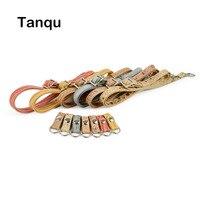 Wood Grain Pattern Long Adjustable Strap Belt With Hook Clip Closure For O Pocket Handles For